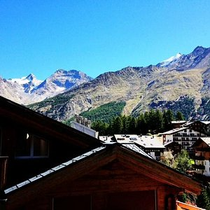 View from room at Hotel Marmotte