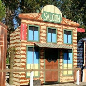 Saloon at Wild West train