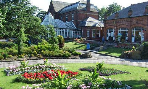 flower Beds & cafe, Botanic Gardens, Southport