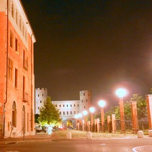 scorcio sulle Porte Palatine da Piazza IV Marzo