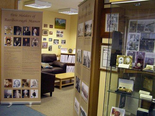 Displays inside Barlborough Heritage Centre
