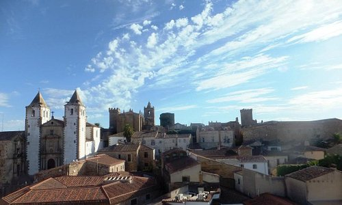 Vista de Cáceres desde la Torre de la Iglesia de Santiago
