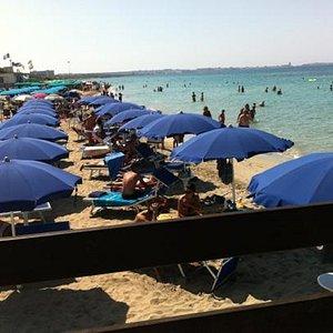Spiaggia attrezzata al Lido Sol d'oro
