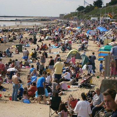 Clacton-on-Sea Beach near the Pier