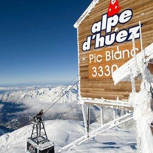 Alpe d'Huez grand domaine Ski, de 1135m à 3330m d'altitude