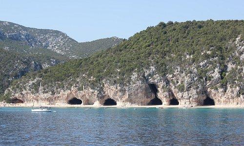 Grotten bij Cala Luna