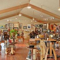Inside TAW Gallery in Bend, OR near Tumalo
