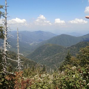 Maggie Valley & Ghost Town in the Sky as seen from the trail to Waterrock Knob