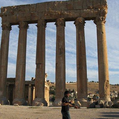 towering pillars-Balbeck, Lebanon