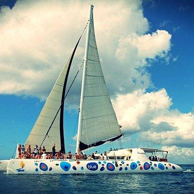Blue Catamaran