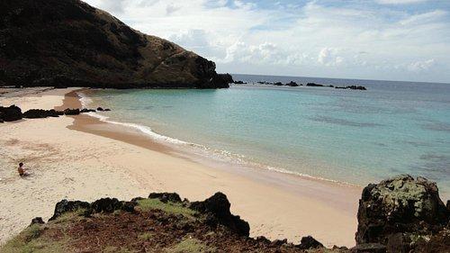 Playa Ovahe, Isla de Pascua (Rapa Nui).