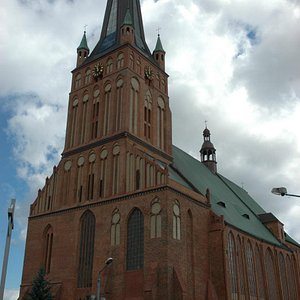 View from Szczecin cathedral - main facade