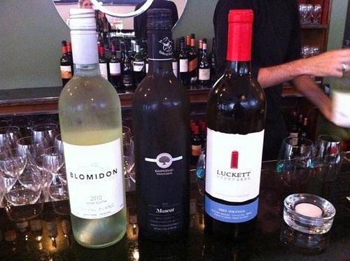 Nova Scotia wine flight