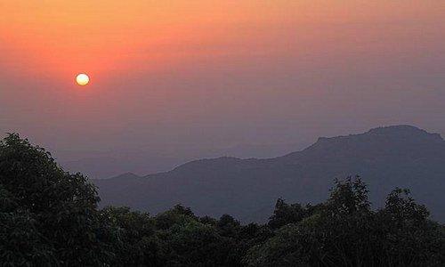 Hazy Sunset at Mumbai Point