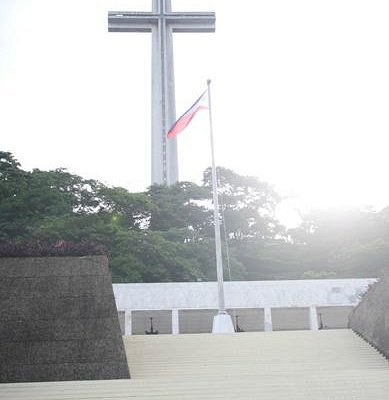 The Dambana ng Kagitingan (Shrine of Valor) located at Mount Samat in Bataan, Philippines
