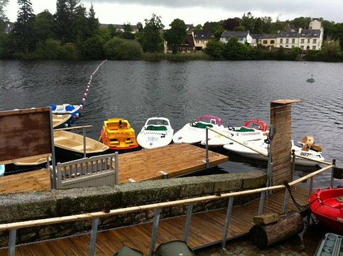 The childrens boat on the Port du Lac Pontoon