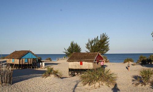 les bungalows à 50m de la plage