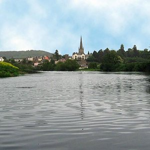 Ross on Wye from the River Wye