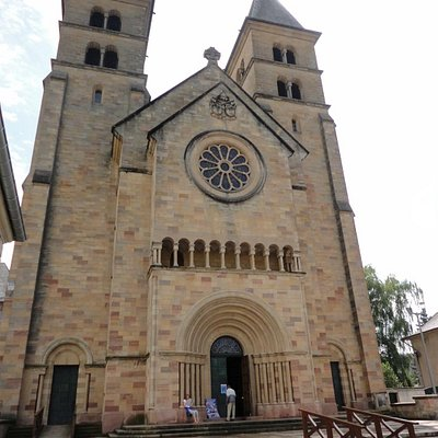 Basilica of the Abbey (front) at Echternach, LU