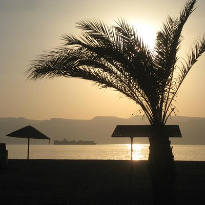 Almost sunset on South beach, Aqaba