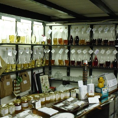 The display of wines and meads you can taste