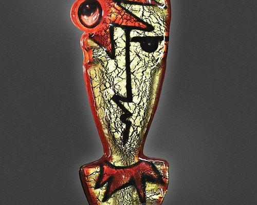 """""""Angeli e diavoli"""", scultura in vetro e oro di Silvio Vigliaturo"""