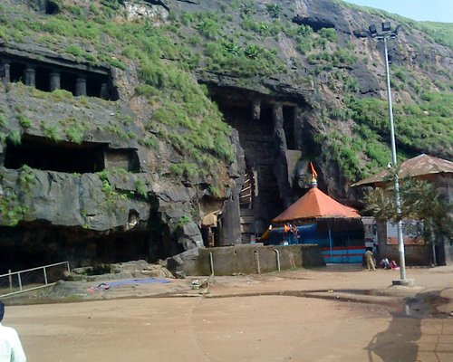 Ekbeera temple in front of chaitya griha Karla