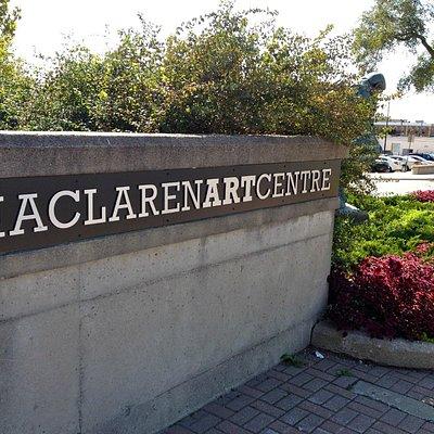 MacLaren Arts Centre sign.