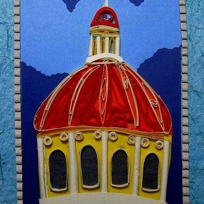 postcard handmade with recycled paper