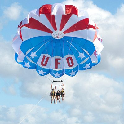 UFO flies the red, white and blue!