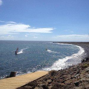 Playa de Pozo Izquierdo un día tranquilo de septiembre