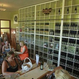 Quaint winery with a comprehensive selection