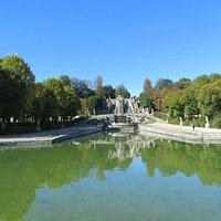 View of fountains and Paris