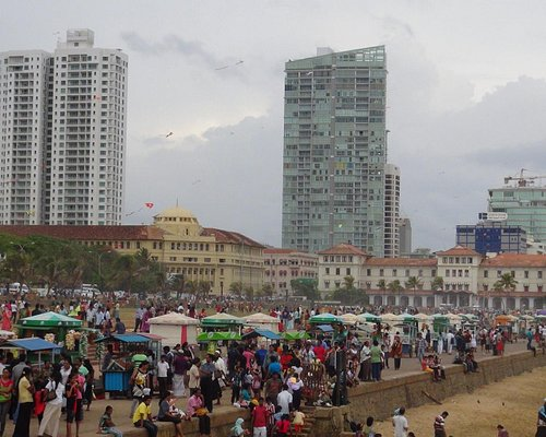 galle face hotel and some high rises