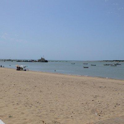Muelle donde atraca el Real Fernando