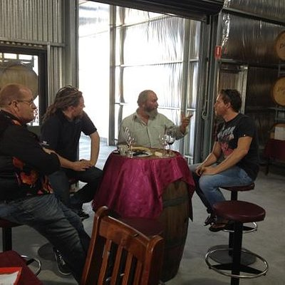 Wine talk with Steve of Danshi Rise! the perfect end to our tour and the best Shiraz we have eve