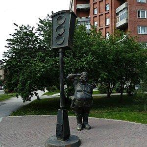 Памятник первому светофору