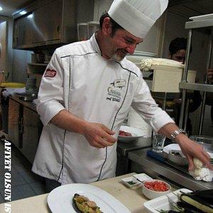 Hard working Chef Mr. Seref