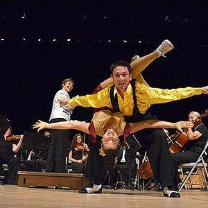 "Michael Jagger and Elyse Sparkes in 2011 Pops Concert, ""Gotta Dance"""