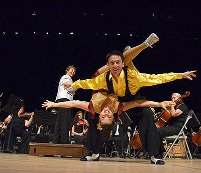 "Michael Jagger and Elyse Sparkes in 2011 Pops Concert, ""Gotta Dance"""
