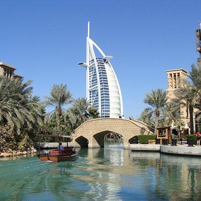 Le Burj Al Arab depuis la Medinah