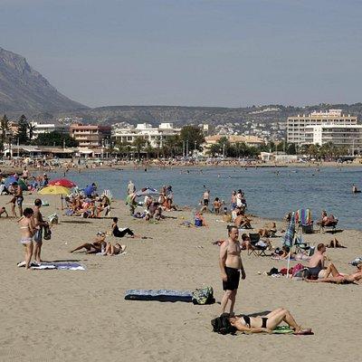 Playa de Arenal im Oktober