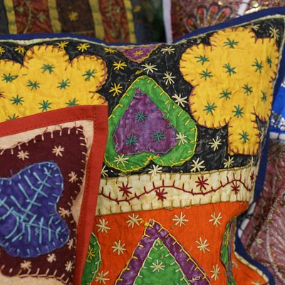Hand stiched pillow covers from India
