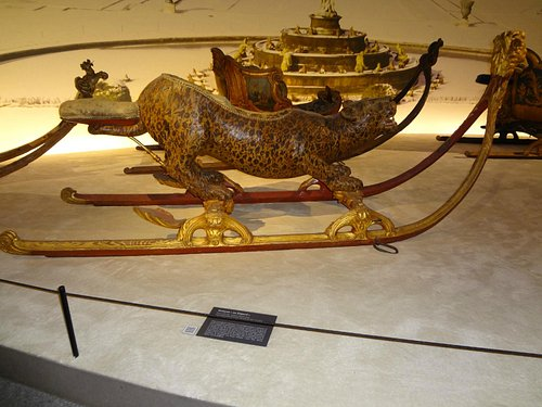 Traineau au leopard (leopard sleigh)