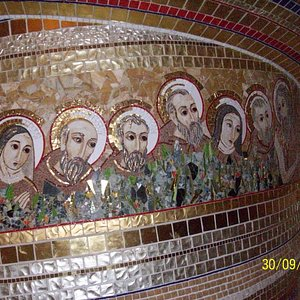 mosaic on walls