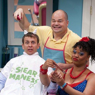 Tony & Barbara in the Shear Madness Salon