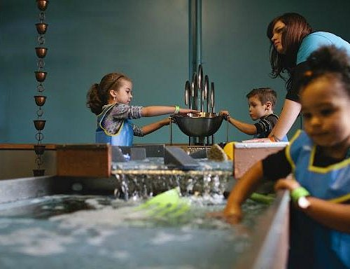 Water play at the museum