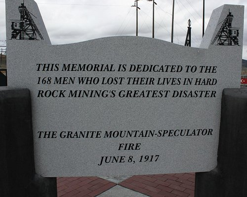 Entrance to Granite Mt. Memorial Overlook, Butte, MT.