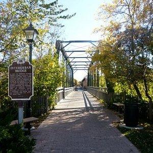 scenic bridge on trail in city center