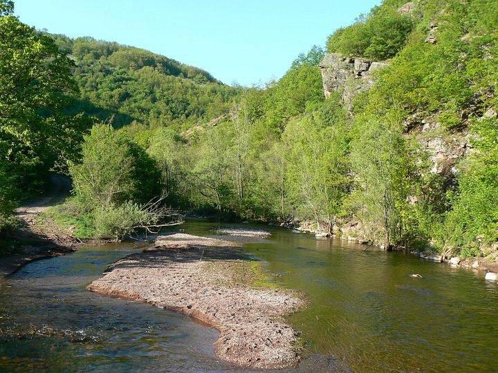 Het riviertje de Jerma bij Poganovo Manastir
